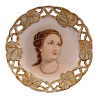 J. Klippart, Josephine Klippart, Hand Painted Portrait Plate, Venus after Titian.