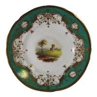 7 Butter Pat Porcelain Cup Plates Hand Painted England C.1830.