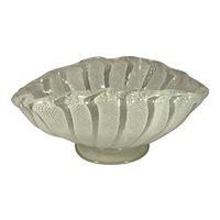 Latticino Glass Footed Bowl, C.1920.