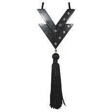 V de Valentino Parfum Deco Style Perfume Pendant with Tassel.