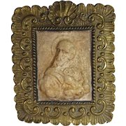 Icon St Peter Brass Frame, Italy C.1750-1850.