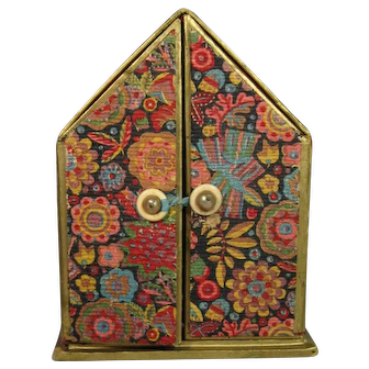 Perfume Presentation Box Floral, 2-Doors C.1930.