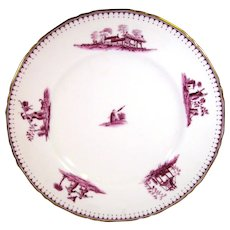 Royal Worcester Chippendale Hand Painted Plate, C.1883.