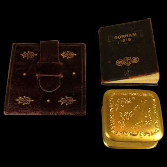 3 Stamp Holders, One Vintage Almanac, C.1900-1930.