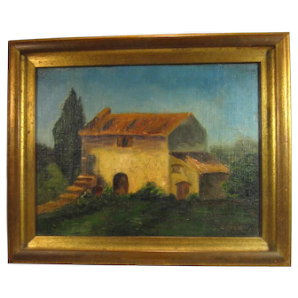Southwest Old Adobe House Hand Painted Oil on Canvas.