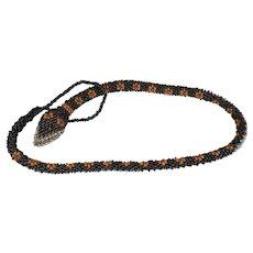 Wiener Werkstatte Micro Bead Snake Necklace.