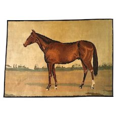 Thoroughbred Horse Equestrian Throw Rug, Made in Belgium.