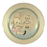 Kewpie Dolls, Hand Painted Signed, Pickard China Plate.