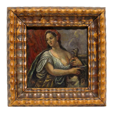 17th C. Flemish Oil on Copper Judith with the Head of Holofernes