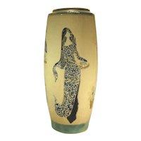 Mid-Century Dona Art Pottery Figural Vase.