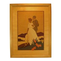 Hudson River Marquetry Inlay Portrait Scene by Jeff Nelson.