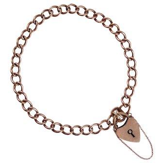 9K Rose Gold Victorian Gate Bracelet