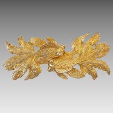 Vintage Massive Mimi di N Koi Goldfish Belt Buckle