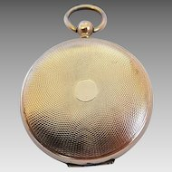 Antique Victorian Era Pocket Watch Style Engine Turned Gold Filled Locket
