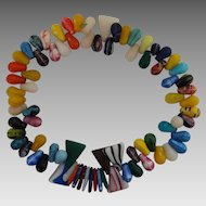 Vintage African Mali Wedding Trade Beads Necklace
