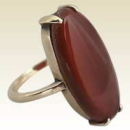 Antique 14k Gold Carnelian Ladies Ring Size 6 1/2