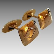 Vintage Circa 1940's 10k Yellow Gold Esemco Cufflinks