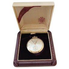 Vintage Gruen Conoruma Veri- Thin Precision Gold Filled Pocket Watch in Original Case