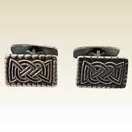 Vintage David Andersen Norway Sterling Silver Celtic Knot Design Cufflinks