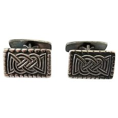 Vintage David Andersen Norway Sterling Silver Celtic Knot Design Cufflinks