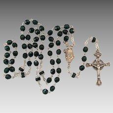 Vintage Sterling Silver Irish Catholic St. Patrick Rosary Beads