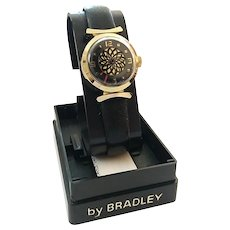 Vintage Bradley Swiss Made Kaleidoscope Ladies Mechanical Wristwatch In Original Box