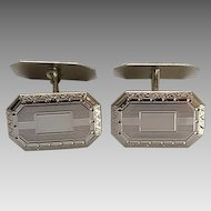 Vintage Hayward 12kt White Gold Filled Cufflinks  Original Box