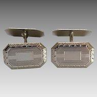 Vintage Hayward 12kt White Gold Filled Cufflinks  Original Box