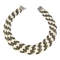 Sterling Silver Vintage Braided Necklace