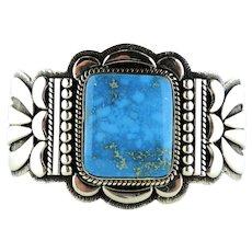 Thomas Jim Kingman Turquoise Large Bracelet