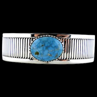 Kingman Turquoise Cuff Bracelet By Allison Lee