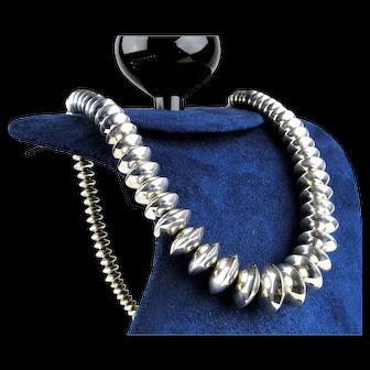 Native American Vintage Sterling Silver Necklace by Manuelita Lovato