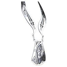 Native American Phil Poseyesva Hopi Necklace Sterling Silver