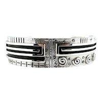 Myron Panteah,  Signed,  Bracelet, Silver