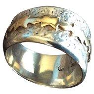 """Alfred Joe 14k Gold Over Sterling Silver Ring. Navajo"