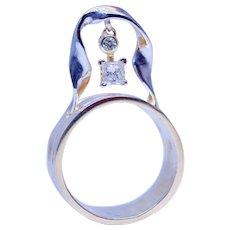 Unique Handmade 0.60 Ct Diamond 14k Gold Ring Band