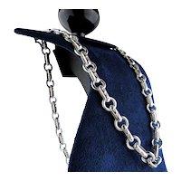 Handmade Sterling Silver Handmade Chain Heavy Links