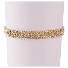 14k Yellow Gold Ladies Bracelet 5.62 Grams