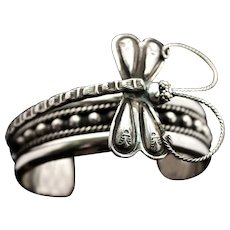 Dragonfly Sterling Silver Cuff-Bracelet Handmade
