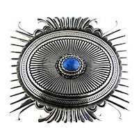 Ron Bedonie Lapis Lazuli Sterling Silver Belt Buckle Signed