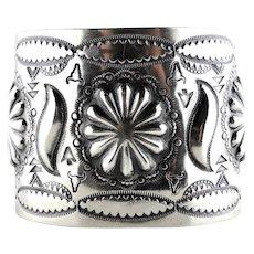 Navajo Vincent James Platero Vintage Silver Cuff