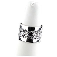 Navajo Joe Piaso Jr Sterling Silver Band Ring