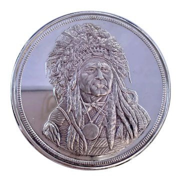 Running  Antelope  The  Silver Chief  5 Troy Ounces Serial 2035