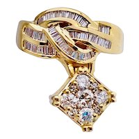 1.50 Ct. Diamond Cocktail Ring 14k Gold