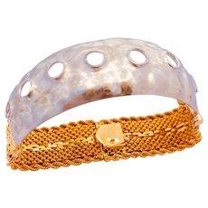 Platinum And 14k Gold Italian Redesigned Bracelet