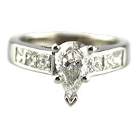 Natural Diamond Engagement Ring or Wedding Band in Platinum