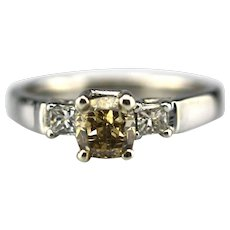 1 CT Elegant Natural Fancy Whisky Chocolate Diamond Engagement Wedding Stackable Ring