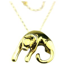 Large Panther Necklace 14KT Yellow Gold