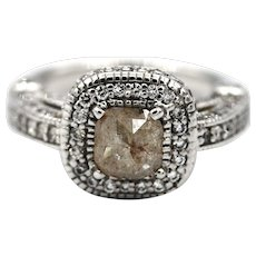 3 CT Elegant Natural Rose Cut Diamond Engagement and Wedding Ring in 18KT White Gold