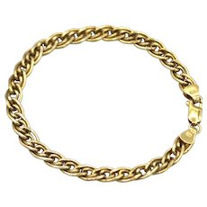 Italian Double Links 14KT Yellow Gold Bracelet
